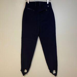 Obermeyer Vintage Stirrup Ski Snow Pants Black